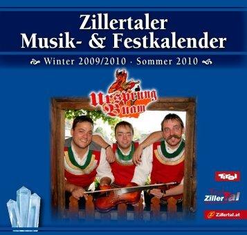 Zillertaler Musik- & Festkalender - Zillertaler Gäste Service