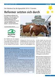 Reformer setzten sich durch - St.Galler Bauernverband