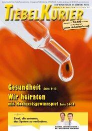 Gesundheit Seite 6-12 Wir heiraten - Tiebelkurier