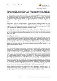 Konzept und Umsetzung - Gemeinde Morbach