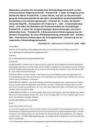 Abkommen zwischen der Europaeischen ... - Die VSUD