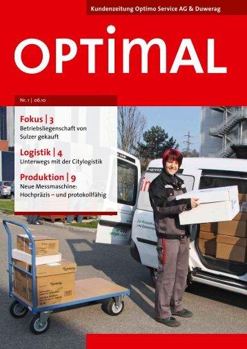 Ausgabe Nr. 1/10 - Optimo Service AG