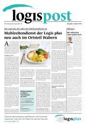 logispost Ausgabe 6 - Januar 2013 - Logis plus AG