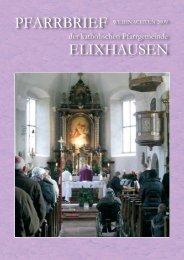 Pfarrbrief Weihnachten 2009 - Pfarre Elixhausen
