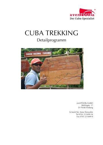 Detailprogramm Cuba Trekking - avenTOURa