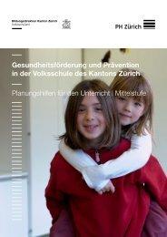 Mittelstufe - Planungshilfe 2012 - Volksschulamt - Kanton Zürich