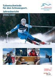Jahresbericht Schuljahr 2006-2007 - Sportmittelschule Engelberg
