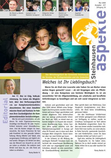 Ausgabe 05/2009 - Aspekte Steinhausen