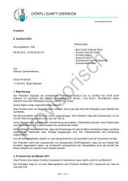 Protokoll-Zunftbot 2012 - Dörfli-Zunft,Dierikon