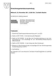 Einwohnergemeindeversammlung - Staufen