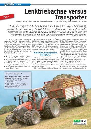 Landwirt Teil 2 Heft 19 / 2012 - Urs Schmid Landmaschinen