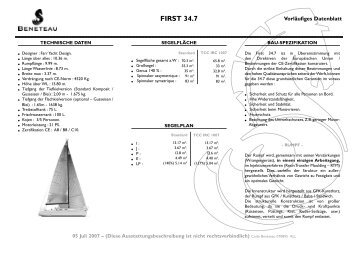 FIRST 34.7 - Graf Yachting