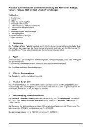 Protokoll zur ordentlichen Generalversammlung des Reitvereins ...