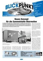 Neues Konzept für die Sammelstelle Obermeilen - Gemeinde ...