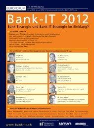 14. Jahrestagung Bank-IT 2012 - IIR Deutschland GmbH
