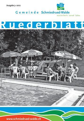 Ruederblatt – 3. Ausgabe 2012 im September - Gemeinde ...
