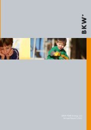 BKW FMB Energy Ltd Annual Report 2003