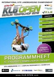 PROGRAMMHEFT - KLB Open Berlin 2013
