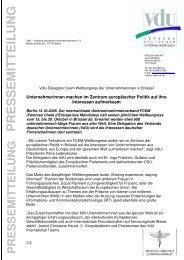 Pressemitteilung - VdU