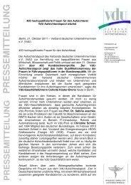 21-11-2011_VdU-PM_400 Frauen für Aufsichtsrat