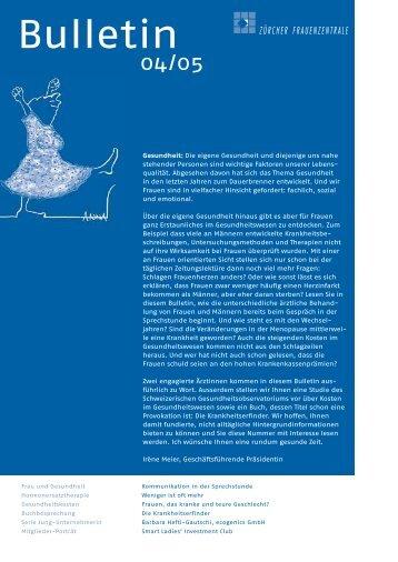 Bulletin-Ausgabe als PDF (311.2 kb) - Frauenzentralen