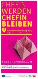 Programm 2007_v2.indd - chefin-online.de
