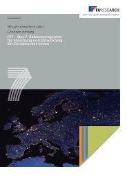 Wissen erweitern über Grenzen hinweg FP7 – Das 7 ... - Euresearch