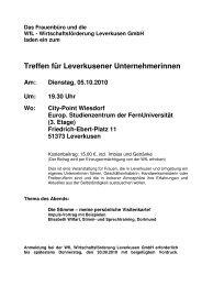 Einladung Unternehmerinnentreff.05.10.10 - WFL ...