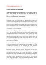 Hildener Industrie-Verein e. V. Hildens junge Wirtschaftskräfte