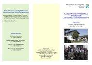 Landwirtschaftsschule Traunstein, Abteilung Landwirtschaft - Amt für ...