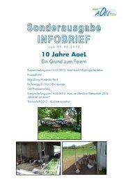 AoeL Sonderinfobrief 10 Jahresfeier 2012