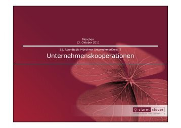 Unternehmenskooperationen - Münchner UnternehmerKreis IT (MUK)