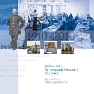 Festschrift zum 100-jährigen Bestehen - Stadt Düsseldorf