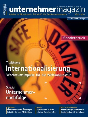 Wachstumsimpuls für die Weltwirtschaft (unternehmermagazin 09/10