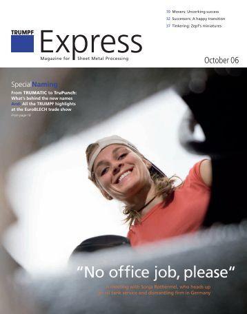 TRUMPF Express, Issue October 06