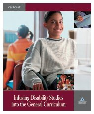 Infusing Disability Studies into the General Curriculum