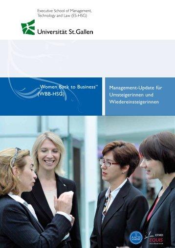1. Broschuere - Executive School - Universität St.Gallen
