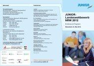 Programmflyer - Junior