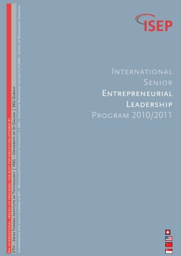 INTERNATIONAL SENIOR ENTREPRENEURIAL ... - ISEP