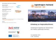 Weiterentwicklung der Logistikregion Rheinland