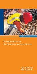 Sicherheitshinweise für Mitarbeiter von Partnerfirmen - Boehringer ...