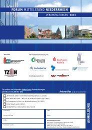 Flyer -FORUM MITTELSTAND NIEDERRHEIN 2013 als Download - Imw-ev.de