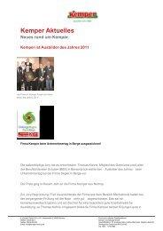 Kemper Aktuelles - H. Kemper GmbH & Co. KG