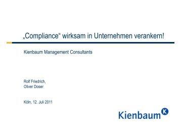 Dimensionen von Compliance Management im Unternehmen