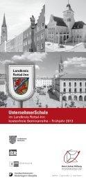 Flyer UnternehmerSchule Rottal-Inn - Hans Lindner Stiftung