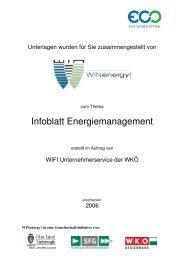 Infoblatt Energiemanagement - WIN