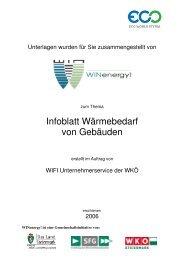 Infoblatt Wärmebedarf von Gebäuden - WIN