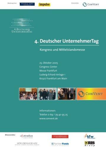 4. Deutscher UnternehmerTag - Convent