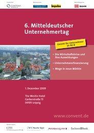 6. Mitteldeutscher Unternehmertag - Convent