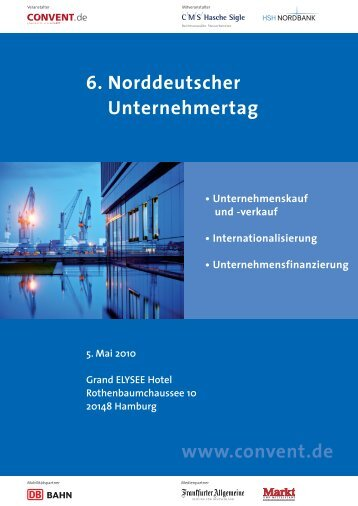 6. Norddeutscher Unternehmertag www.convent.de